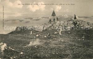 AK / Ansichtskarte Jura_Region Les Cimes du Jura Sommet de la Dole et les Alpes Jura Region