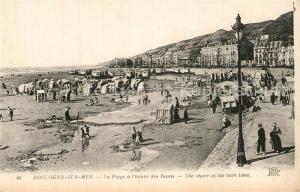 AK / Ansichtskarte Boulogne sur Mer La plage a l heure des bains Boulogne sur Mer