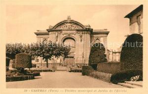 AK / Ansichtskarte Castres_Tarn Theatre municipal et Jardin de l Eveche Castres_Tarn