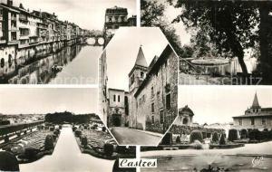 AK / Ansichtskarte Castres_Tarn Bords de l Agoût Jardin du Mail Eglise Saint Benoit XIIIe siecle Jardin de l Eveche Castres_Tarn