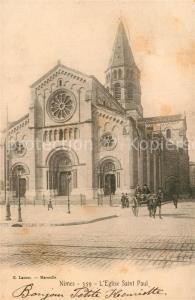 AK / Ansichtskarte Nimes Eglise Saint Paul Kirche Nimes