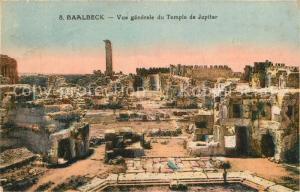 AK / Ansichtskarte Baalbeck_Baalbek Vue generale du Temple de Jupiter