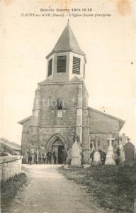 AK / Ansichtskarte Fleury devant Douaumont Grande Guerre 1914 16 Eglise facade principale Fleury devant Douaumont