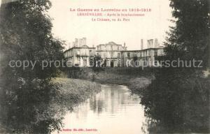 AK / Ansichtskarte Gerbeviller Apres le bombardement Chateau vu du Parc Gerbeviller