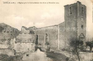AK / Ansichtskarte Leyr Eglise bombardement  Leyr