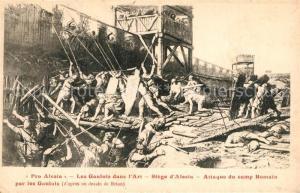 AK / Ansichtskarte Alesia(Roman War)_Alise Sainte Reine Roemischer Angriff