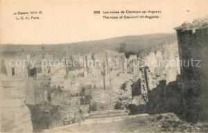 AK / Ansichtskarte Clermont en Argonne Kriegsruinen 1. Weltkrieg Clermont en Argonne