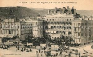 AK / Ansichtskarte Nice_Alpes_Maritimes Hotel de Anglais Cercle de la Mediterranee Nice_Alpes_Maritimes