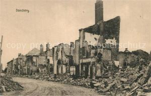 AK / Ansichtskarte Donchery Ruines bombardement Donchery