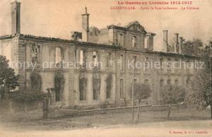 AK / Ansichtskarte Gerbeviller Apres le Bombardement Chateau Gerbeviller