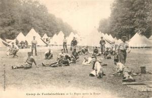 AK / Ansichtskarte Camp_de_Fontainebleau Le Repos apres la Soupe