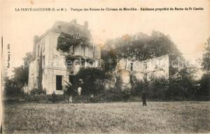 AK / Ansichtskarte La_Ferte Gaucher Vestiges des Ruines du Chateau de Montblin La_Ferte Gaucher