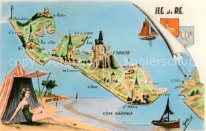 AK / Ansichtskarte Ile de Re Inselkarte Ile de Re