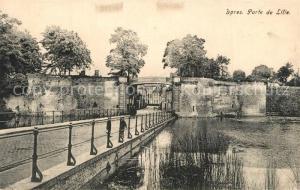 AK / Ansichtskarte Ypres_Ypern_West_Vlaanderen Porte de Lille Ypres_Ypern