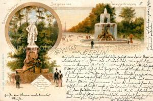 AK / Ansichtskarte Berlin Siegesallee Wrangelbrunnen Lessing Denkmal Berlin