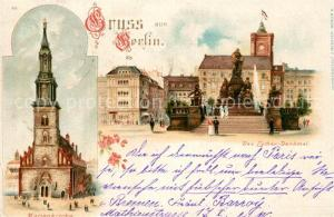 AK / Ansichtskarte Berlin Marienkirche Lutherdenkmal Rotes Rathaus Berlin