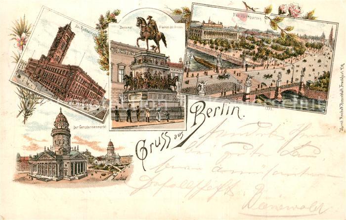 AK / Ansichtskarte Berlin Rotes Rathaus Schlossbruecke Gendarmenmarkt Friedrich II Berlin 0
