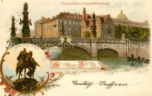 AK / Ansichtskarte Berlin Schloss Kaiser Wilhelm Bruecke Wilhelm der Grosse Spree Berlin