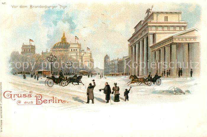 AK / Ansichtskarte Berlin Brandenburger Tor Berlin 0