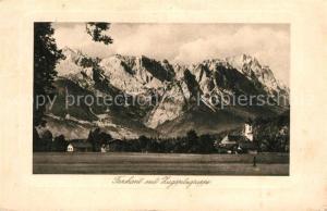 AK / Ansichtskarte Farchant mit Zugspitzgruppe Farchant