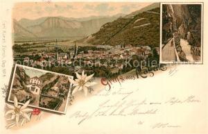 AK / Ansichtskarte Ragaz_Bad Taminaschlucht Panorama Ragaz_Bad