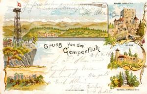 AK / Ansichtskarte Gempenfluh Schloss Angenstein Schloss Dornach Denkmal Dornach 1499 Birseck Gempenfluh