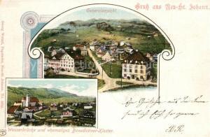 AK / Ansichtskarte Neu_St_Johann Panoram Wasserbruecke ehemaliges Benediktiner Kloster Neu_St_Johann