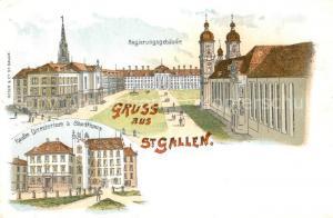 AK / Ansichtskarte St_Gallen_SG Regierungsgebaeude Kaufmaennisches Directorium Stadthaus St_Gallen_SG