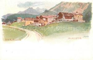 AK / Ansichtskarte Maloja_GR Panorama Kuenstler Redmond Maloja_GR