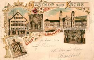 AK / Ansichtskarte Einsiedeln_SZ Gasthof zur Krone Kirche Kloster Liebfrauenbrunnen Einsiedeln SZ