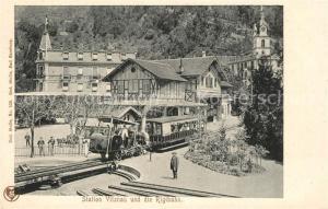 AK / Ansichtskarte Vitznau Rigibahn Bahnhof Vitznau