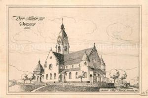 AK / Ansichtskarte Gerliswil_Emmenbruecke Neue Kirche Zeichnung Architekt Gaudy 1912 Gerliswil Emmenbruecke