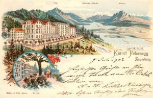 AK / Ansichtskarte Felsenegg Zugerberg Kurhaus Pilatus Felsenegg