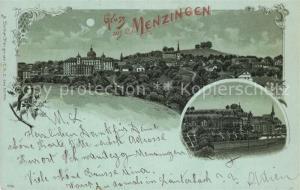 AK / Ansichtskarte Menzingen_Zug Panorama Mondschein Menzingen Zug