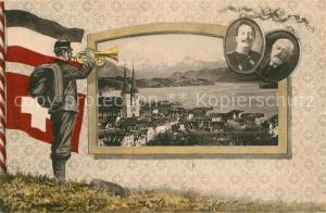 AK / Ansichtskarte Luzern_LU Kaiser Wilhelm II Luzern_LU