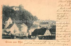 AK / Ansichtskarte Pfirt Panorama Burgruine Pfirt