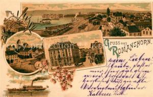 AK / Ansichtskarte Romanshorn_TG Hypo Bank Postgebaeude Kirche Schloss Romanshorn TG