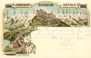 AK / Ansichtskarte Rigi_Kulm Hotel Pension Rigi Staffel Rigi_Kulm