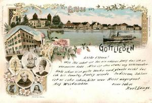 AK / Ansichtskarte Gottlieben Gasthof zur Krone Panorama Kardinael Portraits Gottlieben