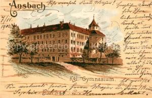 AK / Ansichtskarte Ansbach_Mittelfranken Koenigliches Gymnasium Ansbach Mittelfranken