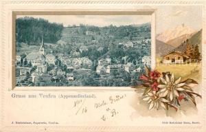 AK / Ansichtskarte Teufen_AR Panorama Edelweiss Alpenrose Teufen_AR