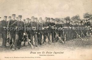 AK / Ansichtskarte St_Gallen_SG Jugendfest Kadetten Infanterie St_Gallen_SG
