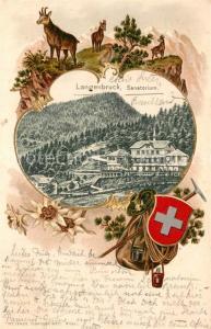 AK / Ansichtskarte Langenbruck_BL Sanatorium Langenbruck BL
