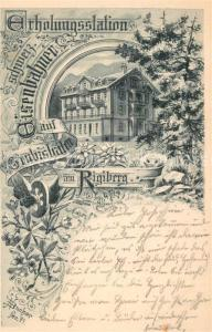 AK / Ansichtskarte Grubisbalm Erholungsstation Schweizerische Eisenbahner Grubisbalm