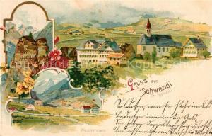 AK / Ansichtskarte Schwendi_Wildhaus Panorama Wasserauen  Schwendi Wildhaus