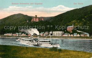 AK / Ansichtskarte Schloss_Stolzenfels Der Rhein Schloss und Kapellen Schloss_Stolzenfels