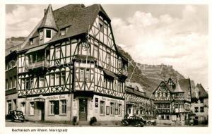 AK / Ansichtskarte Bacharach_Rhein Marktplatz Fachwerk Bacharach Rhein