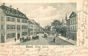 AK / Ansichtskarte Basel_BS Hotel Lamm Basel_BS