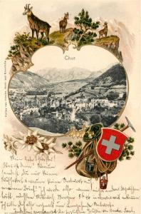 AK / Ansichtskarte Chur_GR Panorama Gemsen Chur_GR