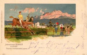 AK / Ansichtskarte Luzern_LU Internationale Rennen Luzern_LU